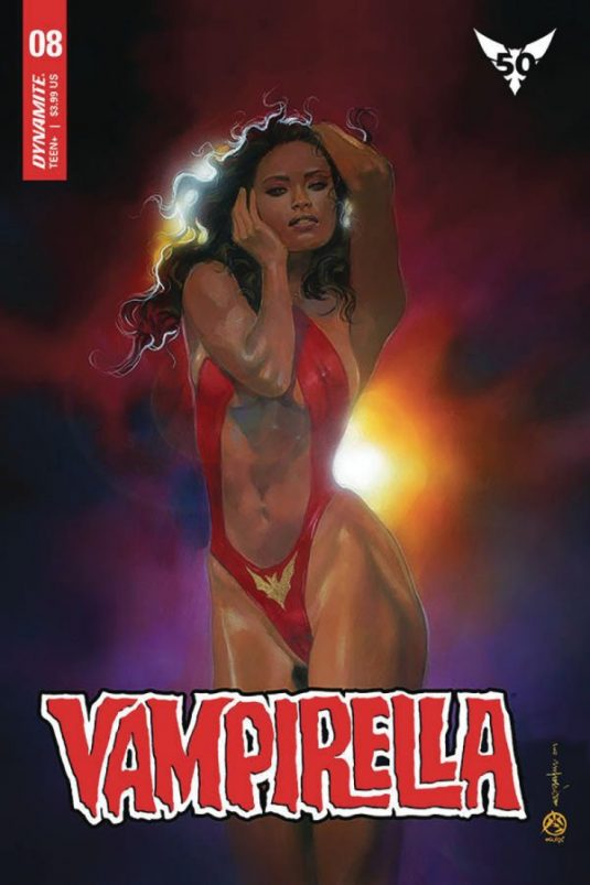 VAMPIRELLA VOL. 5 Number 8 Mark Beachum VARIANT cover signed 1
