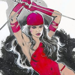 Mark Beachum Original Art ELEKTRA #1 Sketch Cover Variant 2