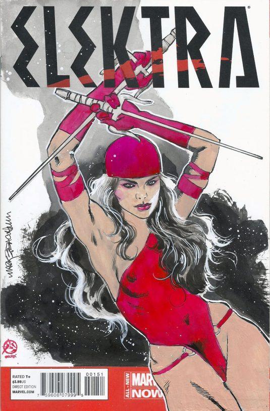 Mark Beachum Original Art ELEKTRA #1 Sketch Cover Variant 1